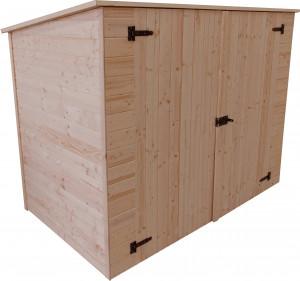 Abri mural bois range vélos - 2,37 m²