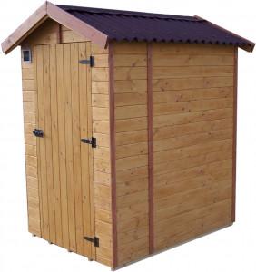 Abri WC bois massif avec plancher / Panneau 16 mm / 2,03 m2