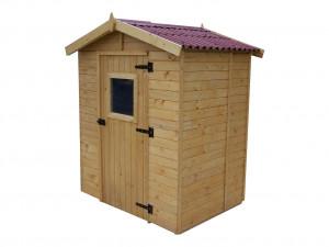 Abri Panneau bois massif avec plancher / 16 mm / 2,61 m2
