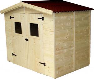 Abri Panneau bois massif avec plancher / 16 mm / 5,04 m2