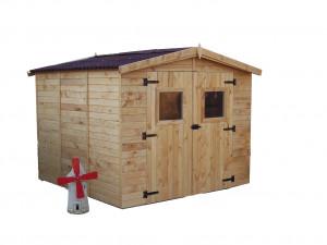 Abri Panneau bois massif avec plancher / 16 mm / 7,20 m²
