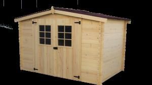 Abri Madriers bois massif 3 m / 20 mm / 5,83 m²