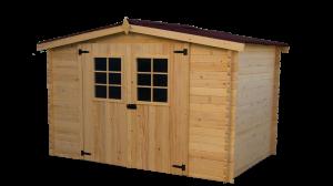 Abri madriers bois massif / 20 mm / 9,42 m²