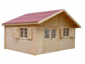 Abri Madriers bois massif / 42 mm / 15,73 m²