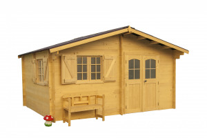 Abri Madriers bois massif / 42 mm / 22,87 m²