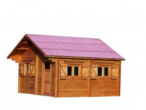 Abri Madriers bois massif / 60 mm / 35,34 m²