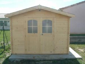 Abri Madriers bois massif / 28 mm / 10,30 m²