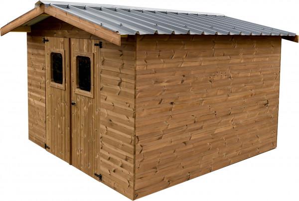Abri panneaux fabriqué en bois massif traité très haute température / 19 mm / 10,33 m²