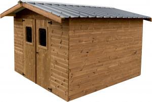 Abri panneaux  en bois massif / 10,33 m²