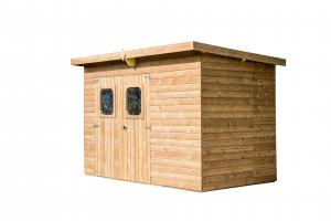 Abri panneaux en bois massif / 7,33 m2