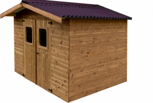Abri madriers en bois massif /11,97 m2