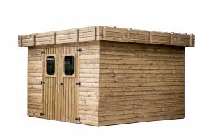 Abri madriers en bois massif / 11,53 m2
