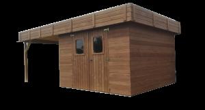 Abri madriers en bois massif / 20,46 m2