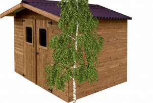 Abri madriers en bois massif / 11,97 m2