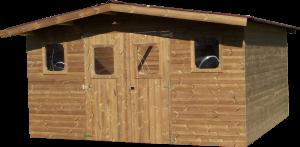 Abri madriers en bois massif/ 15,14 m2