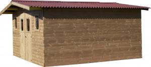 Abri madriers en bois massif / 23,82 m2