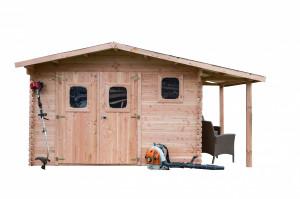 Abri avec bûcher- 19,65 m2