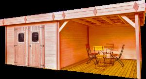 Abri avec terrasse - 20,64 m2