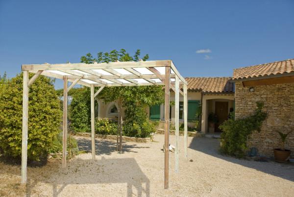 Carport Autoclavé toit plat sans couverture / surface extérieure : 15,00 m2