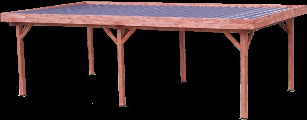 Auvent OMBRA toit plat couverture bac acier / 3,54 m x 6,96 m