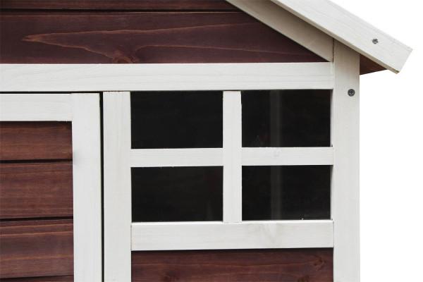 Poulailler bicolore standard bi-corps / 0,76 m2 / 2-3 poules / toit bitumé 2 pentes