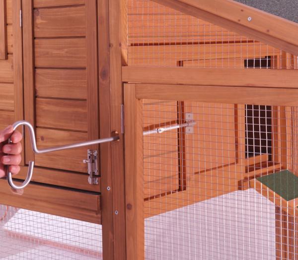 Poulailler standard / 1,14 m2 / 2-3 poules / toit bitumé 2 pentes