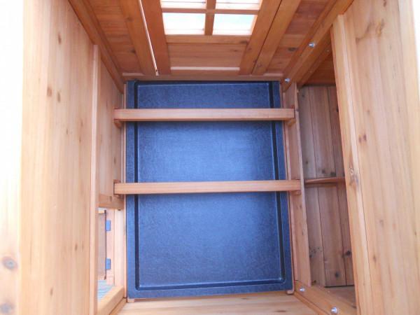 Poulailler standard / 1,50 m2 / 3-4 poules / toit bitumé 1 pente