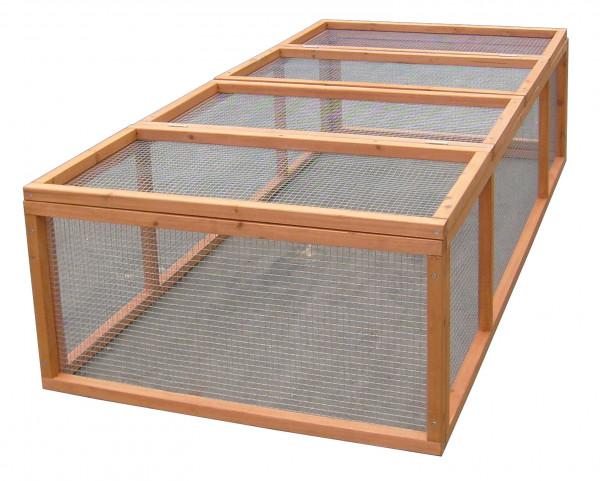 Enclos au sol grillagé / 1,62 m2 / 4-5 animaux / sans toit