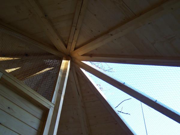 Volière très grande taille / 9,60 m2 / sas d'entrée / 8-15 oiseaux / toit bitumé