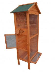 Cage à oiseaux standard / 0,42 m2 / 3-4 oiseaux / toit bitumé