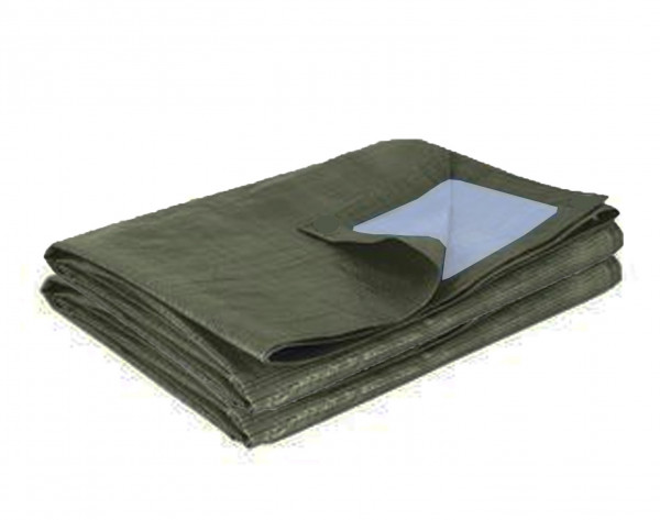 Bâche de protection bicolore vert foncé 195 gr/m² pour AT 3030