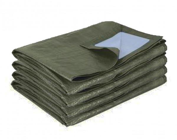Bâche de protection bicolore vert foncé 195 gr/m² pour AT 3061