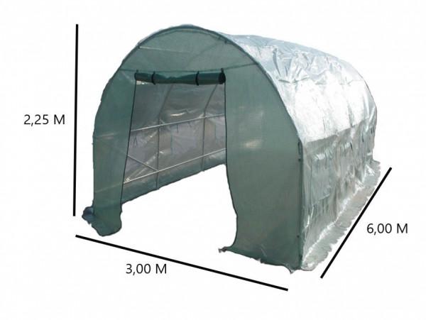 Serre jardin tunnel structure métal 3 x 6 m / 18 m²