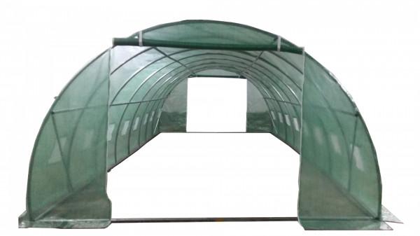 Serre jardin tunnel structure métal 4 x 8 m / 32 m²