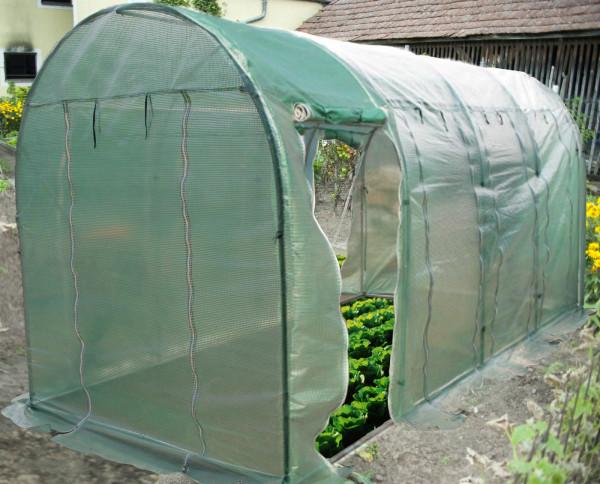 Serre jardin tunnel 4 saisons ventilée 2x4,5 m /  9 m²