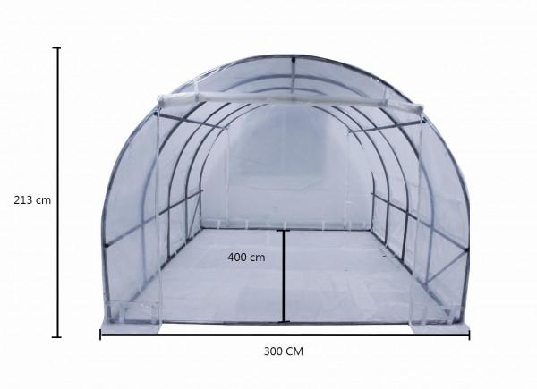 Serre tunnel de culture 3 x 4 m livrée avec bâche translucide 150 gr/m² / 12 m²