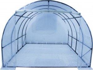 Serre tunnel de culture 3 x 6 m livrée avec bâche translucide 150 gr/m2 garantie 2 ans origine Europe / 18 m²