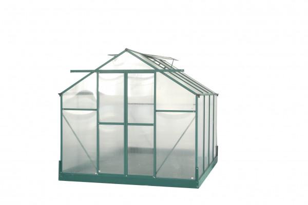 Serre jardin structure aluminium  / polycarbonate 4 mm / 7,44 m²