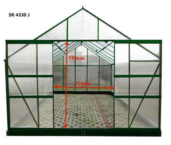 Serre jardin structure aluminium / polycarbonate 6 mm / 12,61 m²