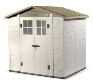 Abri résine grosse épaisseur 22 mm toit bi-pente / 3,98 m²
