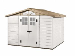 Abri résine grosse épaisseur 22 mm toit bi-pente / 8,06 m²
