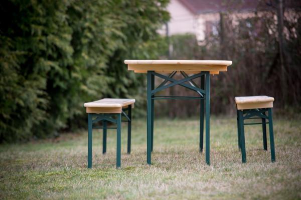 Set brasserie COLMAR comprenant 1 table 220 x 70 cm + 2 bancs 8 personne