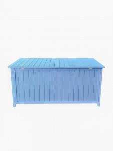 Coffre de rangement lasuré couleur bleue / dimensions 127x55xH60 cm / 0,70 m2 / FSC