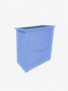 Armoire de rangement lasurée couleur bleue équipée de 3 étages /  87x46,5xH95 cm / 0,40 m2 / FSC