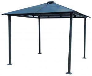 Gloriette aluminium toit 4 pentes / surface extérieure : 9 m²