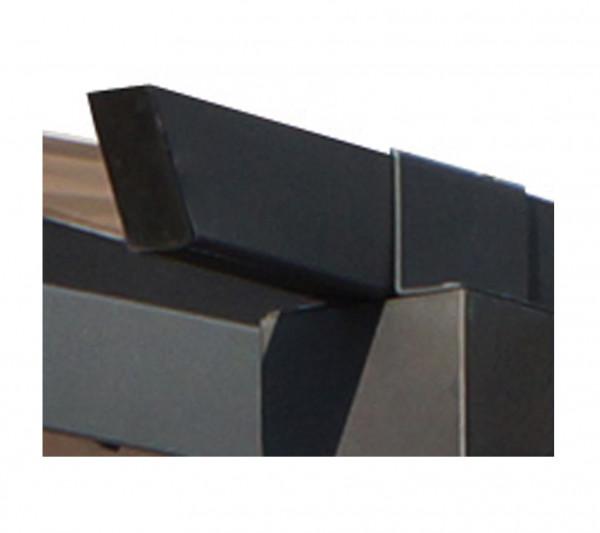 Pergola arche aluminium / acier / 11,22 m² / Toile écru