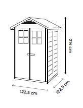 Abri résine grosse épaisseur 22 mm toit bi-pente / 1,97 m²
