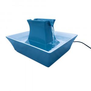 Fontaine à eau Drinkwell céramique Pagoda - Bleue