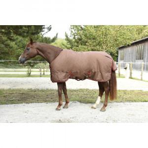 Couverture chevaux Rugbe Ice Protect 300 g, 125 cm, marron foncé/rouge
