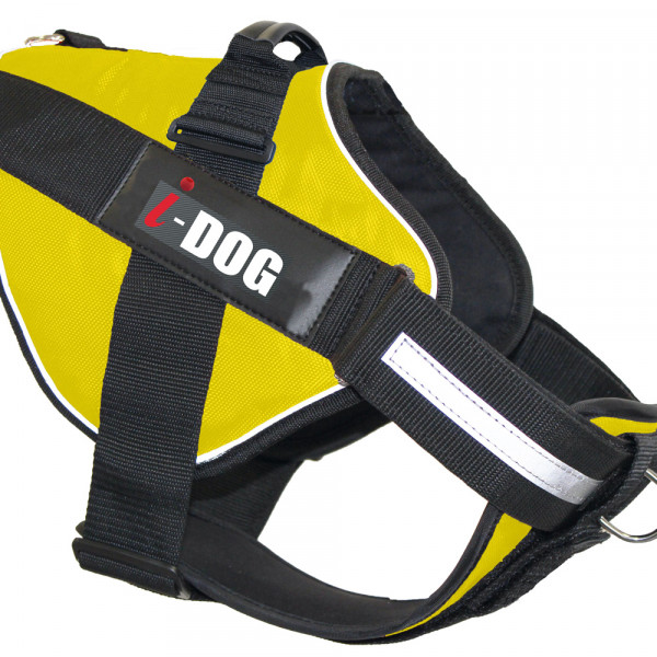 Harnais « NeoCITY » I-DOG - Jaune/Gris - Taille XS